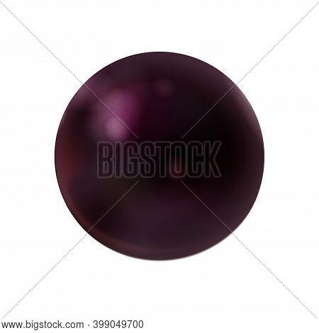 Realistic Dark Purple Sphere Matte Or Glossy, Orb 3d Mockup Blank Icon. Natural Amethyst, Quartz, Cr
