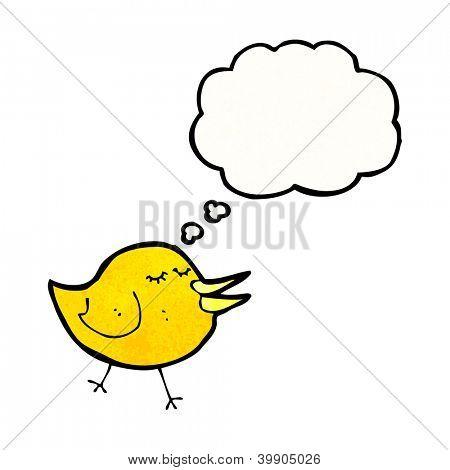 cartoon happy little bird