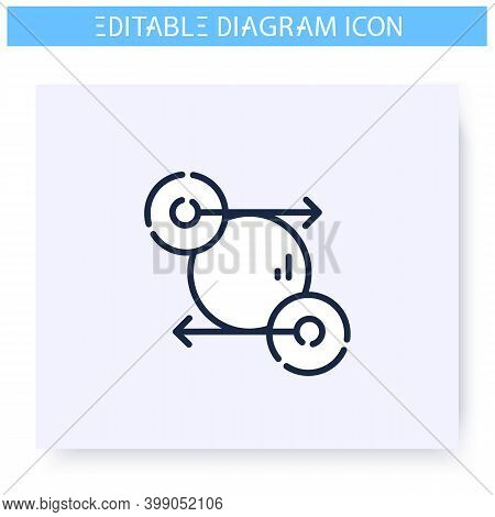 State Diagram Line Icon. Process, Management Or Progress Visualisation. Infographic, Presentation, P