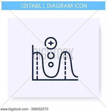 Function Graph Line Icon. Mathematics Scheme. Science, Analytics, Business Visualisation. Infographi
