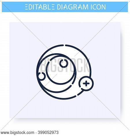 Existential Graph Line Icon. Data Parts Relations Scheme. Business, Analytics, Structure Visualisati