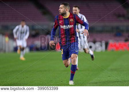 Barcelona (spain). 08th December 2020. Jordi Alba Of Fc Barcelona   During The Uefa Champions League