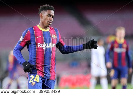 Barcelona (spain). 08th December 2020. Junior Firpo Of Fc Barcelona   During The Uefa Champions Leag