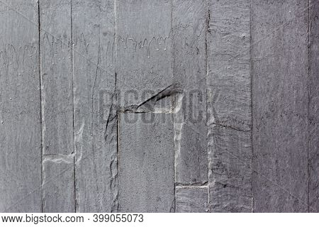 Grey Wall Tiles Imitating Brickwork. Modern Finishing Material. Gray Facade Facing Tiles, Imitating