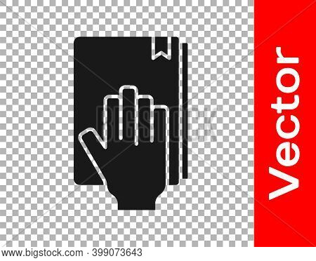 Black Oath On The Holy Bible Icon Isolated On Transparent Background. The Procedure In Court. Truth