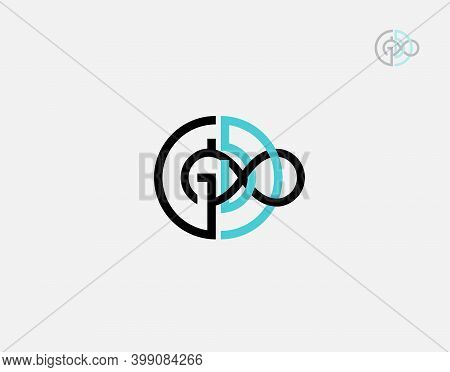 Letter Gd Infinite Logotype On White Background In Vector Illustration