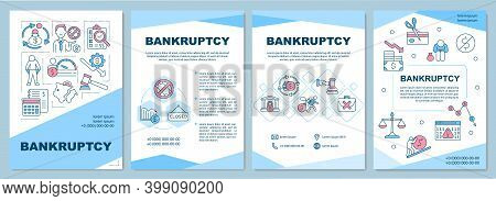 Bankruptcy Brochure Template. Inability Paying Creditors And Lenders. Flyer, Booklet, Leaflet Print,