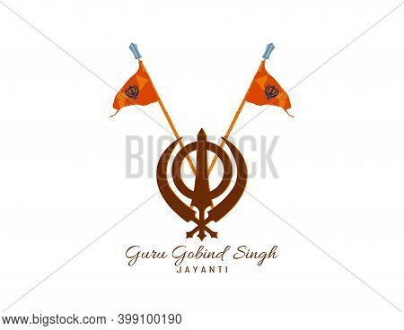 Vector Illustration Of Happy Guru Gobind Singh Jayanti Festival