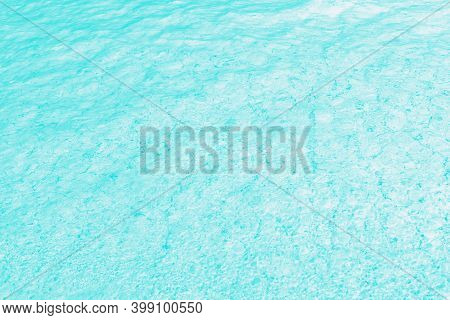 Aqua Turquoise Aquamarine And White Color, Water Glare Pattern. Patchy Abstract Background
