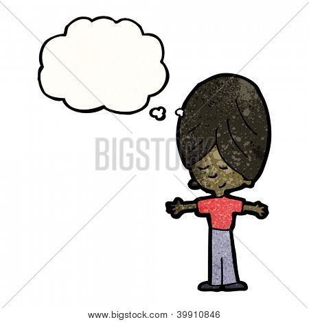 cartoon man with thought bubble