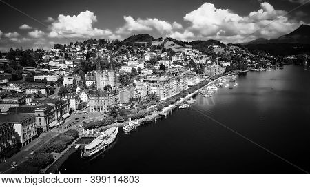 The Lakefront Of Lake Lucerne In Switzerland - Travel Photography