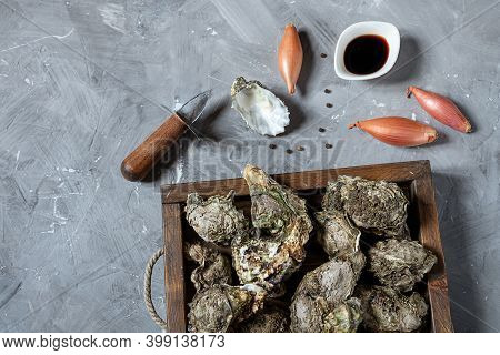 Oysters, Vinegar And Shallot