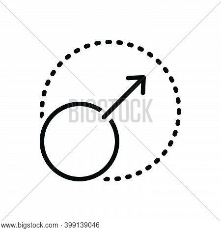 Black Line Icon For Expand Enlarge Resize Arrowhead Outward Grow Spread Arrow Maximize