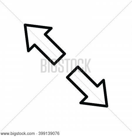 Black Line Icon For Extend Arrow Opposite Prolong Expand Enlarge Distend Develop Widen Broaden Ampli