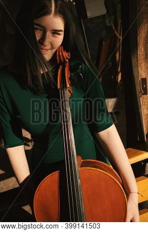 Portrait Of A Girl With Cello