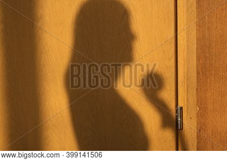 Silhouette Of A Girl With Cello