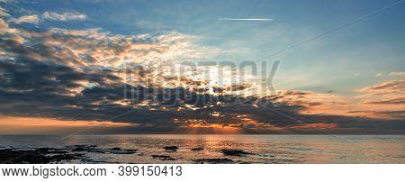 A Beautiful Sunset View In Monsena Rovinj Croatia