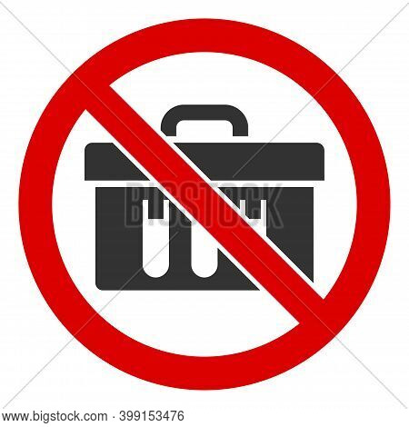 No Chemical Analysis Icon. Illustration Style Is A Flat Iconic Symbol Inside Red Crossed Circle On A