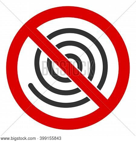 No Spiral Icon. Illustration Style Is A Flat Iconic Symbol Inside Red Crossed Circle On A White Back