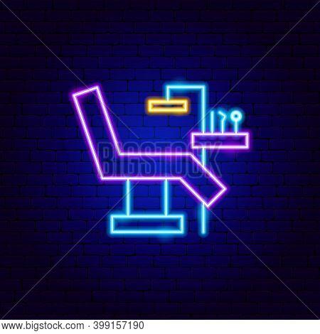 Dentist Cabinet Neon Sign. Vector Illustration Of Stomatology Promotion.