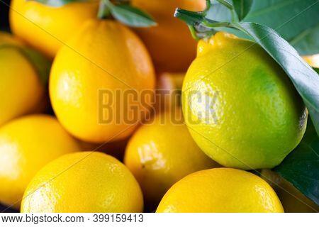 Ripe Lemons As Background Or Texture.ripe Lemons As Background Or Texture