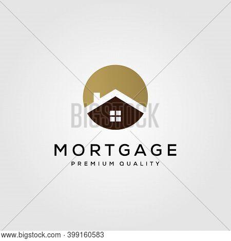 House Building Logo Real Estate Symbol Vector Illustration Design