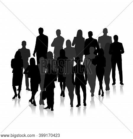 Compilation Of Business Concept Men And Women - Vector Illustration
