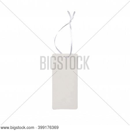 Blank Tag Tied String. Price Tag, Gift Tag, Sale Tag, Address Label, Etc. Can Be Used To Write Price