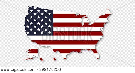 Map Of Usa. United States Of America Concept Map. State Maps. Trendy Design. Vector Illustration