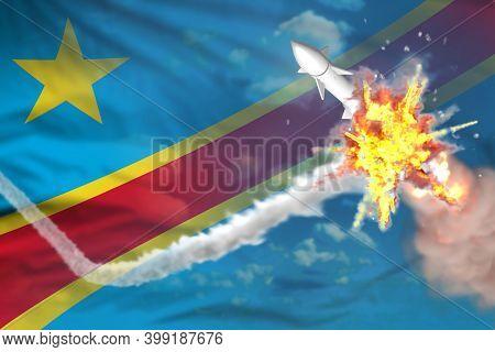 Democratic Republic Of Congo Intercepted Supersonic Warhead, Modern Antirocket Destroys Enemy Missil