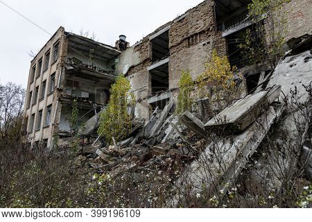 Abandoned Decaying Buildings Of The Soviet Era In The Chernobyl Exclusion Zone