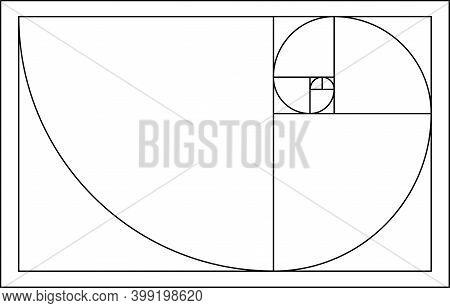 Golden Ratio Vector. Golden Proportion. Section Design Element. Golden Ratio Background. Fibonacci N