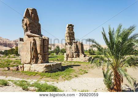 Colossi Of Memnon, Valley Of Kings, Luxor, Egypt
