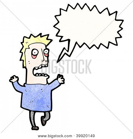 cartoon stressed man freaking out