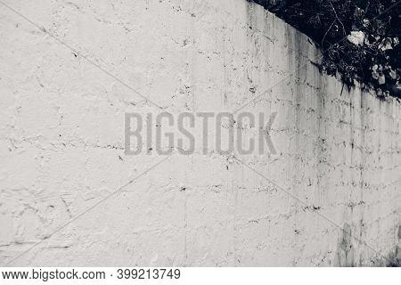 White Brick Wall Background. White Brick Interior Facade Wall.