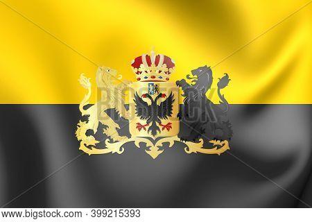 3d Flag Of Tiel (gelderland), Netherlands. 3d Illustration.