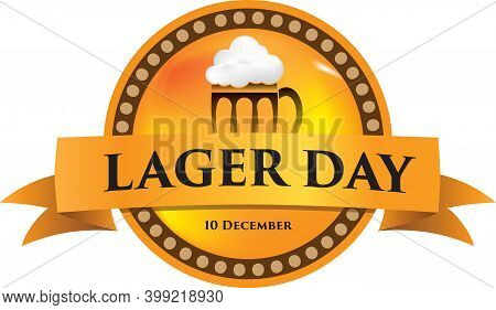 Round Emblem Label For Event Lager Day