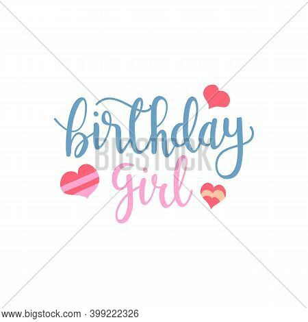 Happy Birthday Greeting Card With Girl In High Heels And Lettering. Fashion Illustration. Female Leg
