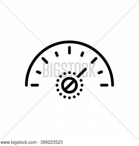 Black Line Icon For More Much Speedometer Fast Arrow Technology Performance Indicator Accelerate