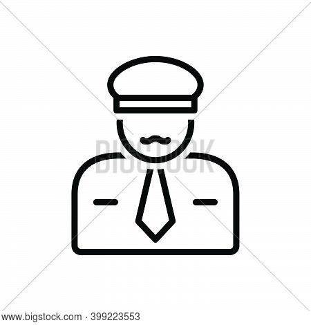Black Line Icon For Sir Mr Guy Gentleman Sir He People Man Police The-law Force Guard Secure Enforce