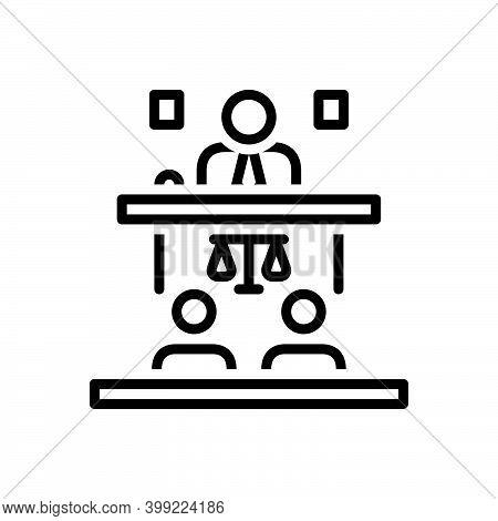 Black Line Icon For Appeal Cassation Proclamation Public-speaker Convention Adminstrative Judge