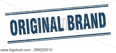 Original Brand Stamp. Original Brand Label. Square Grunge Sign