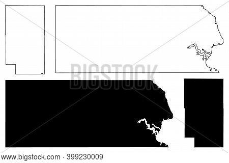 Corson And Clark County, State Of South Dakota (u.s. County, United States Of America, Usa, U.s., Us