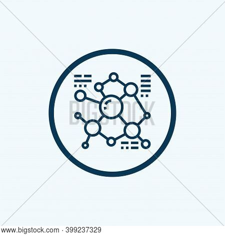 Molecular Structure Icon. Outline Molecular Structure Vector Icon For Web Design Isolated On White B