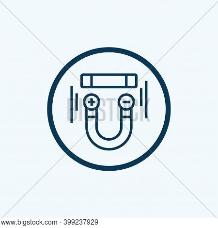 U Magnet Icon Isolated On White Background From Science Collection. U Magnet Icon Trendy And Modern