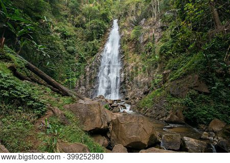 Beautiful Waterfall In Thailand Khun Korn Waterfall.