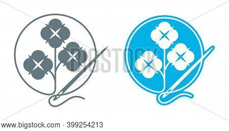 100 Percents Cotton Fabric Textile Sticker For Natural Cloth Marking - Vector Isolated Label For Tex