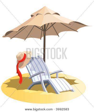 Chair And Umbrella