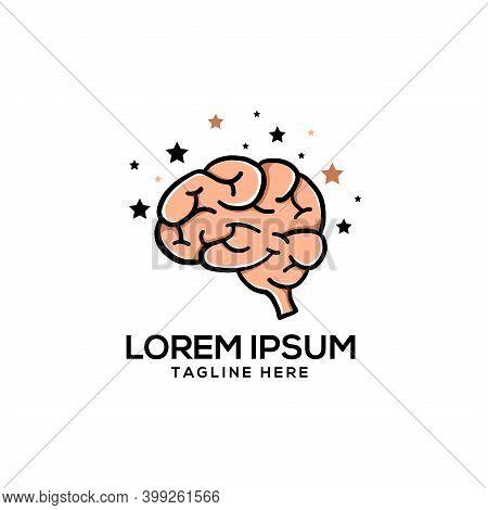 Brain Logo Template. Brain Vector. Think Idea Concept. Brain Logotype. Brain From Human Body Collect