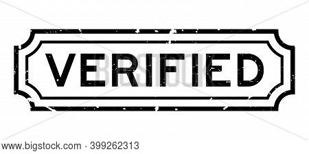 Grunge Black Verified Word Rubber Seal Stamp On White Background